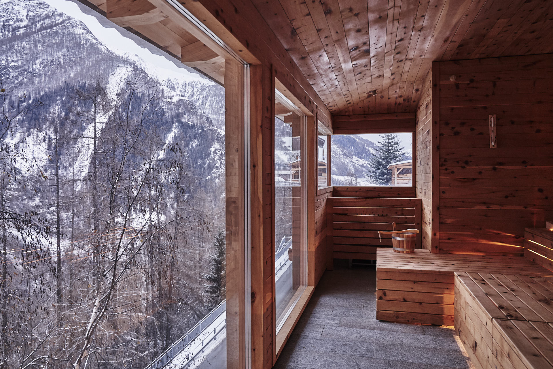 Panorama Sauna Winter